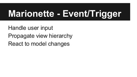 marionette layout view events marionette building your first app