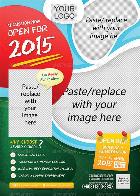 kindergarten flyer template 20 best education print design