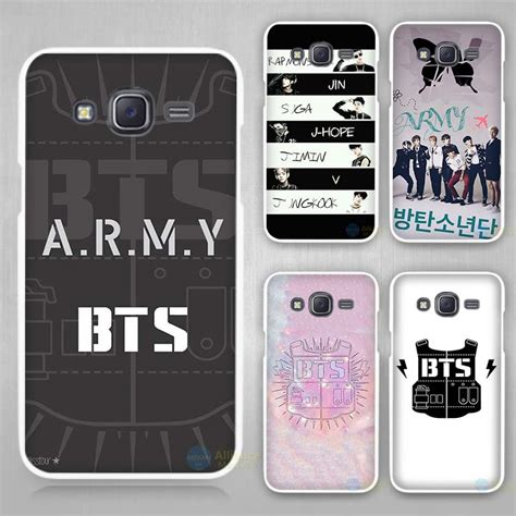 bts bangtan boys logo white plastic cover for samsung galaxy j1 j2 j3 j5 j7 2016
