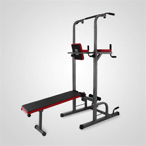 dip bench power tower dip station with bench bar strength multi