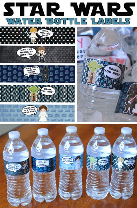 printable star wars drink labels star wars water bottle labels free printable