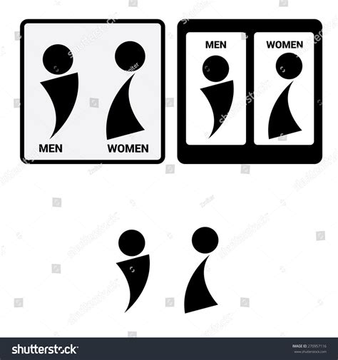 man and woman bathroom sign vector man woman restroom signsquare toilet stock vector