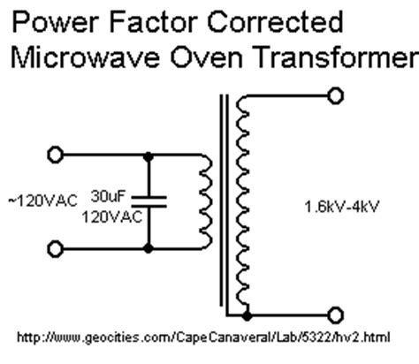 capacitor voltage transformer circuit here are two matching 2kv microwave oven transformers