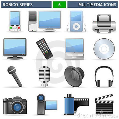 Multimedia Series multimedia icons robico series royalty free stock photos image 13315858