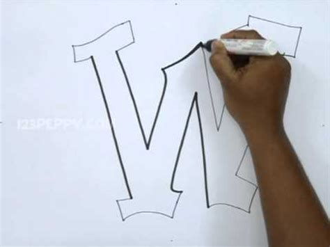 draw graffiti letter  youtube