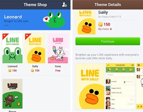 theme line leonard android line gets colorful adds new theme store in updated