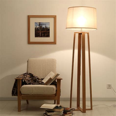 light stand for living room modern lanting american vintage floor l the logs four stand solid wood fabric l study