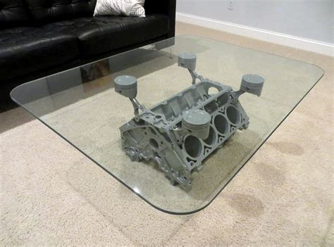 Chevy Engine Block Coffee Table