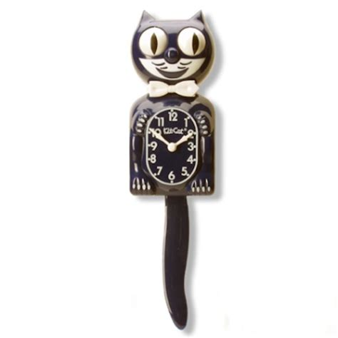cat clock with swinging tail black kit cat clock with moving tail and eyes childhood