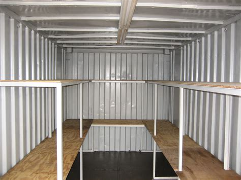 steel shelves with lighting