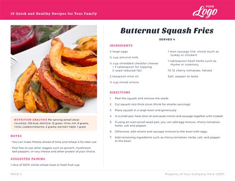 recipe card template indesign photoshop template for meal planning and recipe card version 2