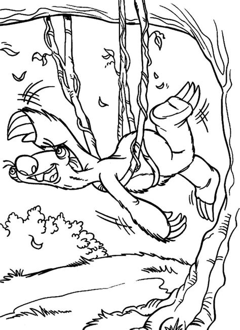 sid the sloth coloring pages az coloring pages