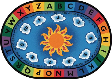 circle time rug isaiah 40 28 circle time rug 6 9 quot x 9 5 quot oval 79406