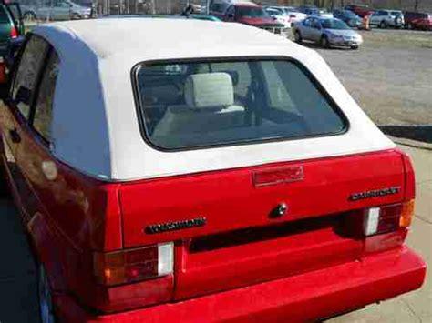 volkswagen rabbit 1990 buy used 1990 volkswagen cabriolet base convertible 2 door