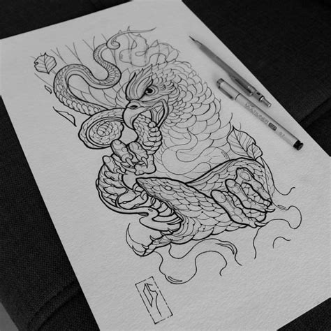 42 neo traditional snake tattoos