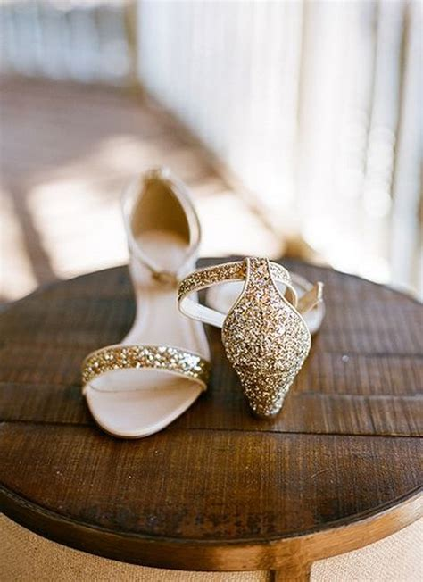 Gold Flat Shoes For Wedding by 30 Grown Up Ways To Use Glitter At Your Wedding Deer