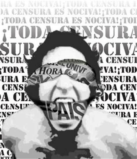 en blanco y negro con 15 temas o noticias censuradas en la prensa de