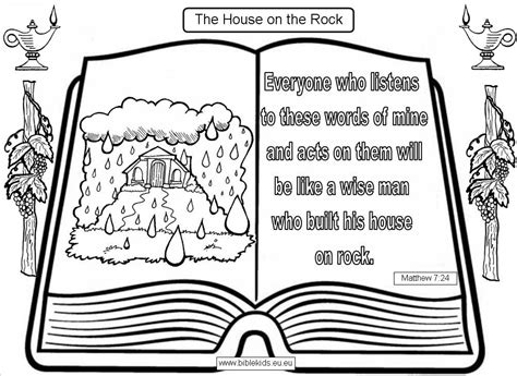 coloring pages house on the rock wise man built his house upon the rock memes