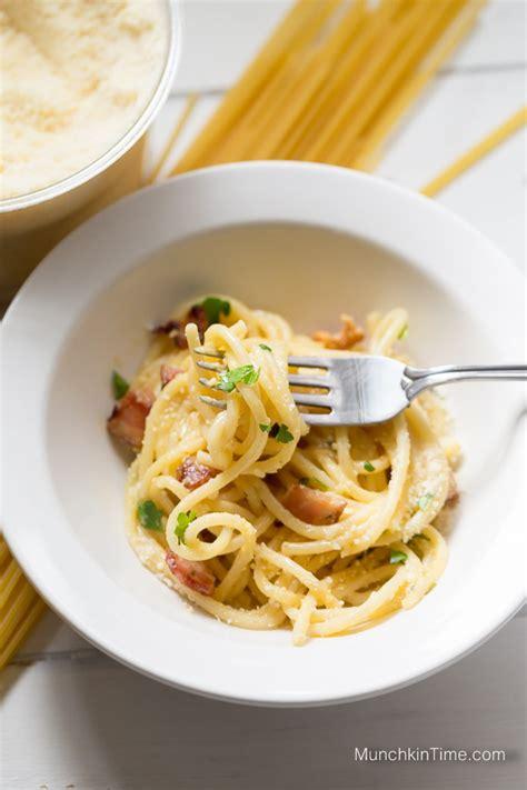 quick and easy pasta carbonara dinner recipe