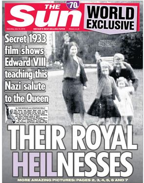film of queen giving nazi salute anorak queen s nazi salute who dares tell the truth