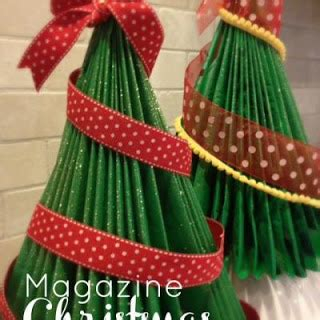 oh my heart how to make a magazine christmas tree