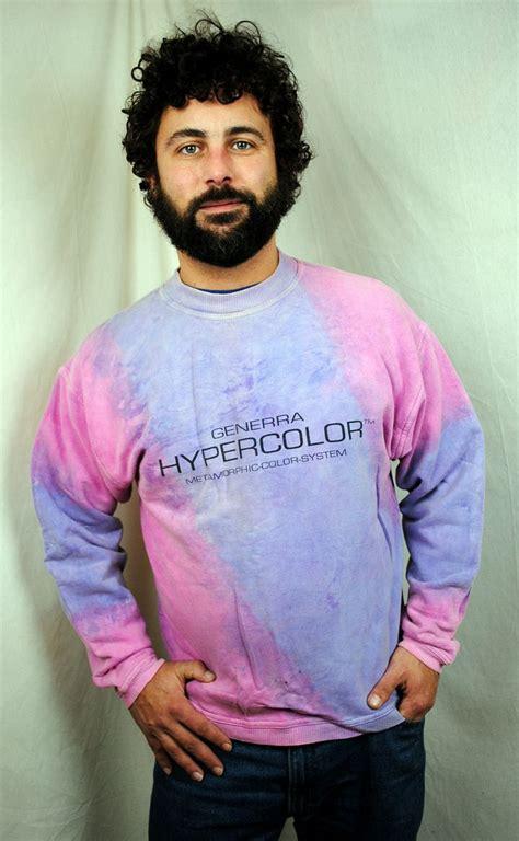 hyper color shirt vintage 80s hypercolor tye die heat sensitive sweatshirt