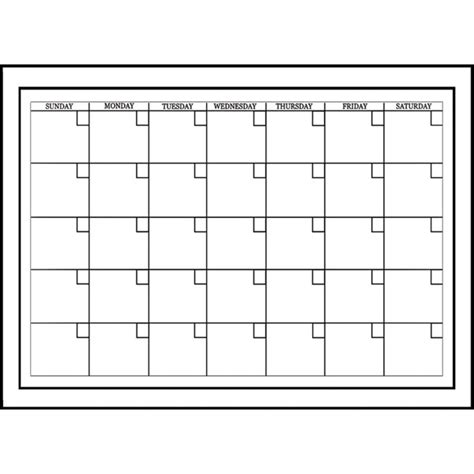 white board dry erase monthly calendar peel n stick free