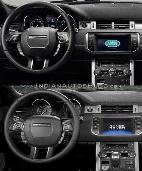 range rover sport dashboard 2016 range rover evoque vs 2015 range rover evoque