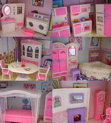 barbie doll house canada new barbie size doll house dollhouse furniture 5 rooms 99 99 picclick