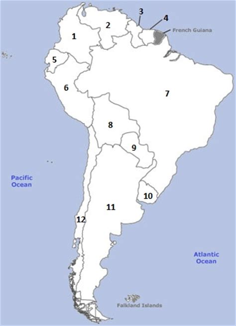 south america map with country names south america on a map 10 min quiz by 13auction13
