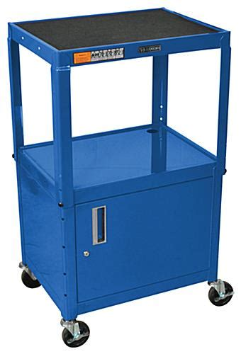 multimedia cart with locking cabinet object moved