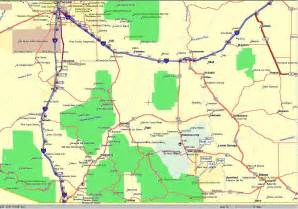south arizona map maps to bruce s