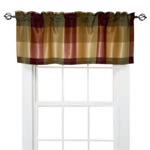 spencer n enterprises curtains target home plaid window valance gold 54x18 by