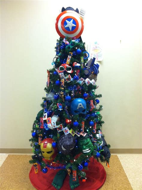 super hero christmas tree for kids christmas trees