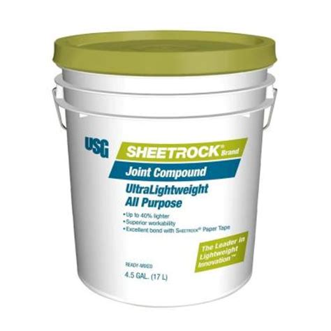 sheetrock brand ultra lightweight 4 5 gal pre mixed joint