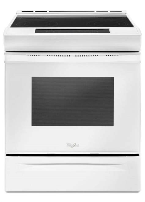 whirlpool 30 in 4 8 cu ft slide in electric range in