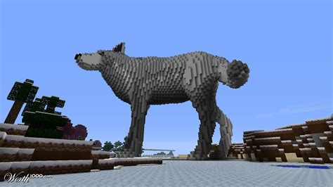 3d Block 6 Side Zoo Animal A fenris wolf worth1000 contests