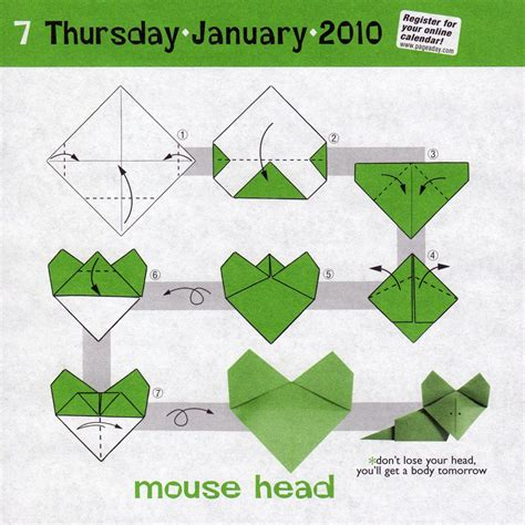 Origami Insructions - origami mouse diagram 171 embroidery origami