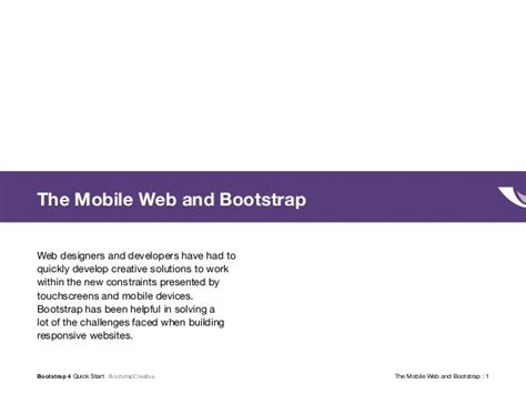 bootstrap quick tutorial bootstrap 4 quick start tutorial pdf training