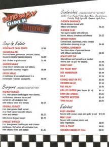 midway diner menus midway diner