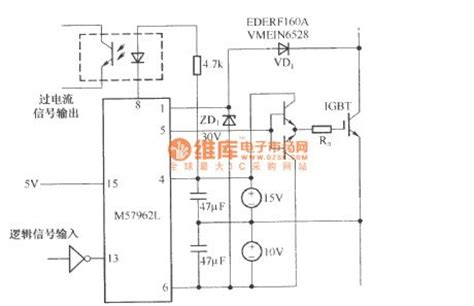 Ic M57962l m57962l driving high power igbt module typical circuit