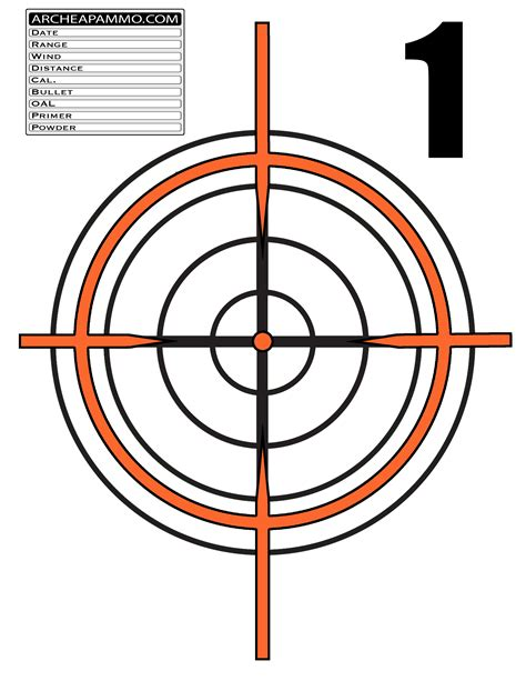 printable ar targets ar15 range targets