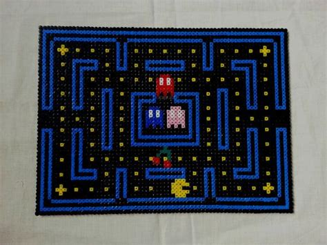 pattern table games pacman video game table place mat hama perler beads by