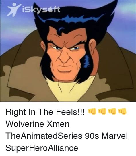 Right In The Feels Meme - funny wolverine xmen memes of 2017 on sizzle logan