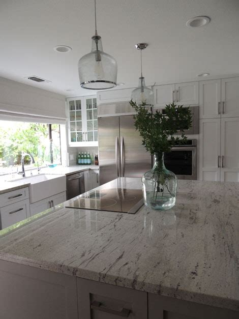 White Granite Kitchen Countertops River White Granite Countertops Design Ideas