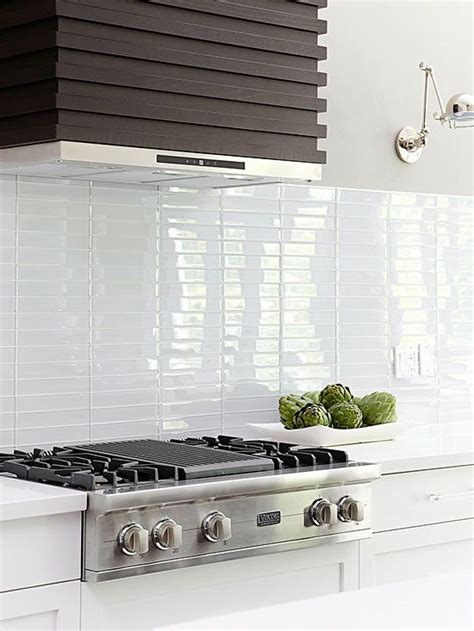 white glass subway tile kitchen backsplash best 25 glass tile backsplash ideas on pinterest