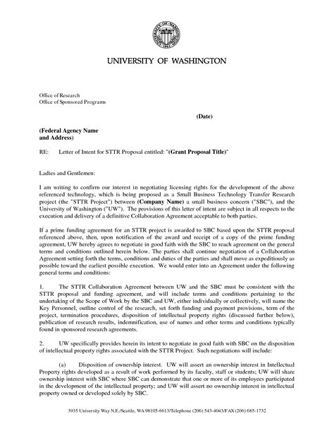 Letter Of Intent Template Grant Best Photos Of Letter Of Intent Grant Writing Sle