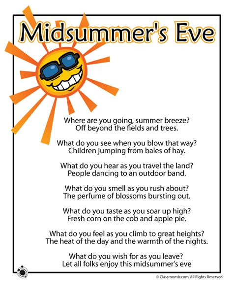 poems for toddlers summer poem midsummer s woo jr activities