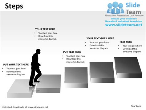 career path chart template career growth climbing steps ladder to top power point