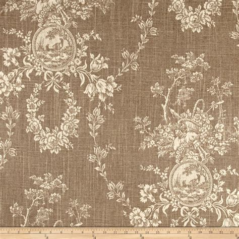 house of fabric waverly country house toile linen discount designer fabric fabric com